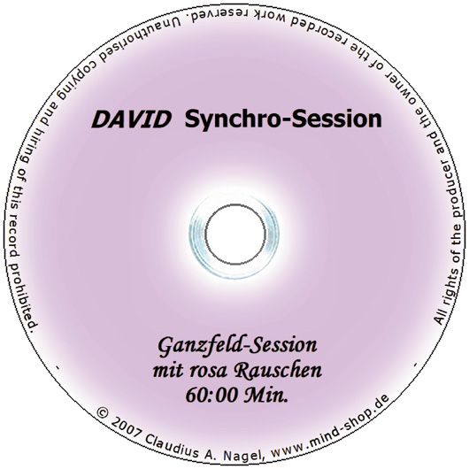 "DAVID Session-CD ""Ganzfeld-Session mit rosa Rauschen"